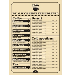 Dessert price vector