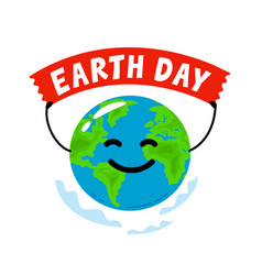 earth day environment ecology concept flat style vector image