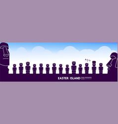 Easter island travel destination grand vector