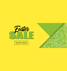 easter sale shop now banner template vector image