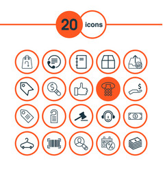 Ecommerce icons set collection of refund vector