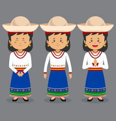Ecuador character with various expression vector