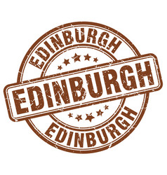 Edinburgh brown grunge round vintage rubber stamp vector