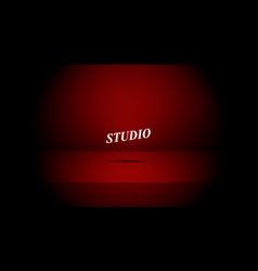 empty darkened red color studio vector image