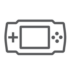 game console line icon electronic and device vector image