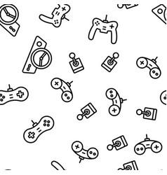 Gaming joystick seamless pattern vector