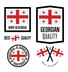georgia quality label set for goods vector image