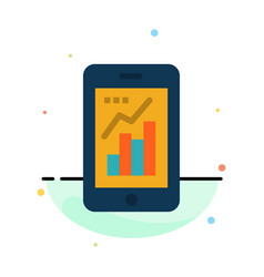 graph analytics info graphic mobile mobile graph vector image