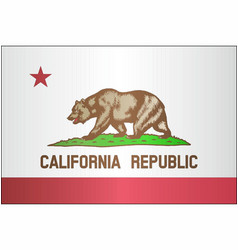 Grunge flag of california vector