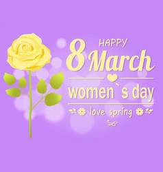happy 8 march womens day vector image