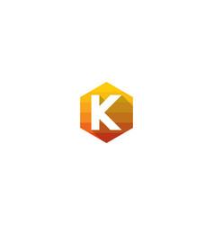 hexagon letter k logo icon design vector image