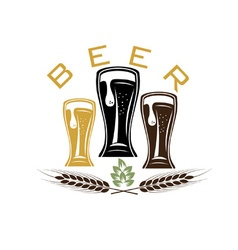 iluustration of glasses with beer vector image