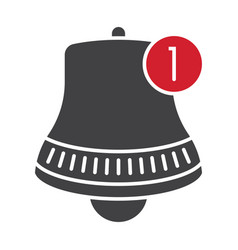 Inbox message alert bell notification flat icon vector