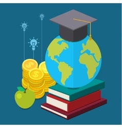 International educational projects vector