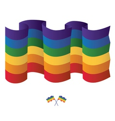Isolated gay Rainbow flag vector