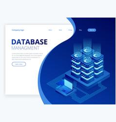 Isometric database network management big data vector