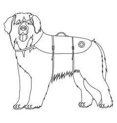 Leonberger lifesaver dog outline vector