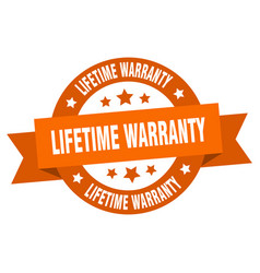 lifetime warranty ribbon lifetime warranty round vector image