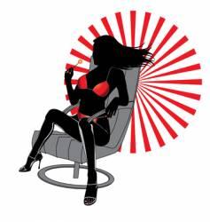 luxury woman vector image