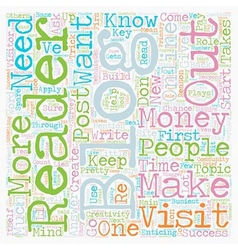 Make money with every visitor in your blog text vector