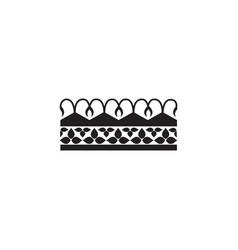 medieval fantasy royal crown black graphic icon vector image