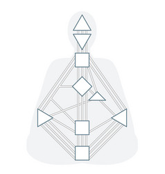 Monochrome human design bodygraph vector