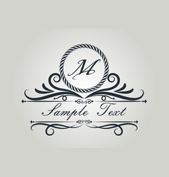 Monogram luxury vector