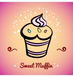 MuffinCard4 vector image