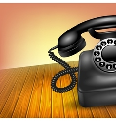 Old Telephone Concept vector