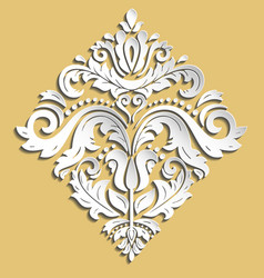 oriental pattern with 3d elements vector image