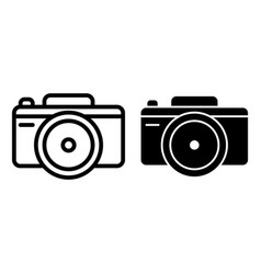 photo camera line and glyph icon photography vector image
