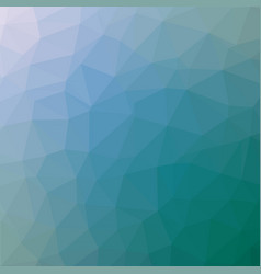Polygonal background in teal and true blue tones vector