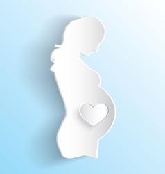 Pregnant Woman Sticker vector image