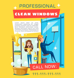 professional window cleaning rope access service vector image