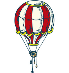 Red and white balloon vector