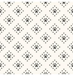 seamless animal pattern paw footprint and dot vector image