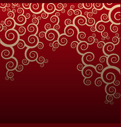 seamless floral pattern on red background vector image