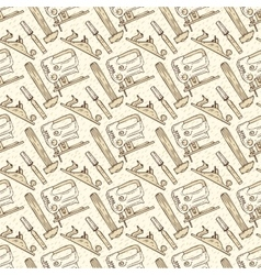 Seamless pattern with tools in retro style vector