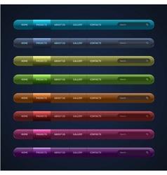 set 8 navigation bar for website vector image