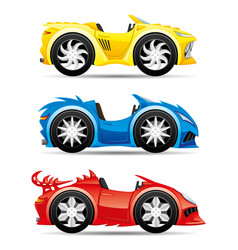 set monster toy cars vector image