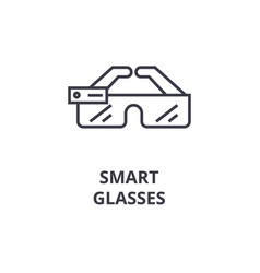 Smart glasses line icon outline sign linear vector