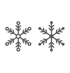 snowflake line and glyph icon weather and climate vector image