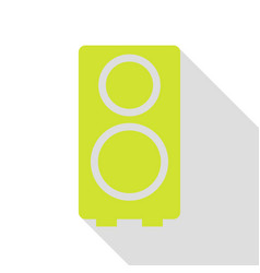 speaker sign pear icon with flat vector image