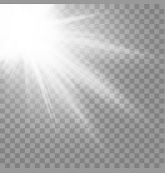spotlight light effect on a transparent isolated vector image