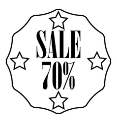 Sticker 70 percent off icon outline style vector image vector image