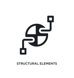 structural elements isolated icon simple element vector image