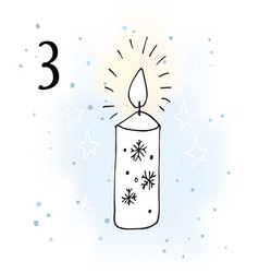 The advent calendar for christmas vector