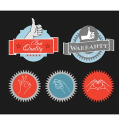 Vintage shopping labels and logo clip-art vector image
