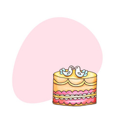cakes with place for text pastry and vector image