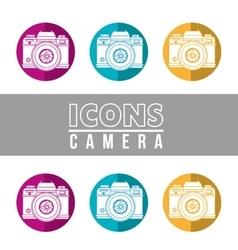 camera icons design vector image